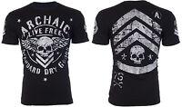Archaic AFFLICTION Mens T-Shirt CREST American Customs Biker Fighter MMA UFC $40