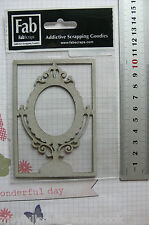 Elegant MIRROR FRAME 63x98mm - Single DieCut from Chipboard - Frame 105x73mm GH