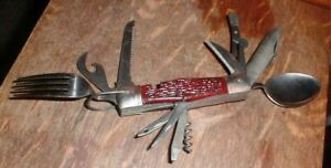 Vintage BSA Boy Scouts Camping Multi-Tool Pocket Knife 14-Fold Out Blades Japan