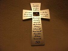 2003 Roman Inc. 50Th Anv. Metal Wall Cross Plaque With Poem