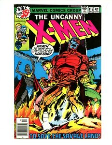 Uncanny X-Men #116 1978 VF- Debut of Wolverine's Healing Issue Comic Key