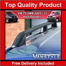 VW T5 TRANSPORTER SWB 2003>2015 BLACK ROOF RAILS ROOF BAR SIDE BAR NO DRILL VAN