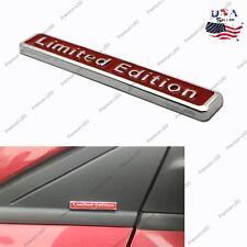 3D Red Metal LIMITED EDITION Car Rear Lid Fender Trunk Badge Emblem Sticker Bar