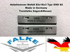 2 unidades hobelmesser Mafell 82x18x3 tipo: EHU 82