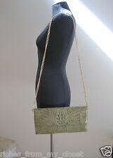 New W.H. PETRONELA Olive Green Genuine Crocodile Clutch/Evening Bag Handbag