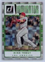 MIKE TROUT - 2017 Donruss Baseball Dominator Card # 280/999 - LOS ANGELES ANGELS