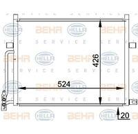 HELLA Kondensator, Klimaanlage BEHR HELLA SERVICE   für BMW 3er 3er Coupe