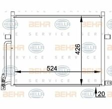 Hella Condenseur, climatisation BEHR HELLA SERVICE Pour BMW 3er 3er Coupe