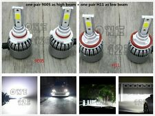 9005+H11 Combo CREE LED Headlight Bulbs Kit High Low Beam 6000K White 55W 8000LM