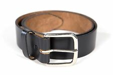 Mens Leather Belt Oil Tan Removable Buckle Heavy Duty Construction USA Made