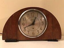 Antique Sessions Electric Mantle Shelf Clock for Parts