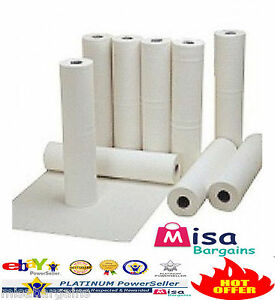 """4 x Hygiene Couch Bed Paper Roll Tissue White 20"""" rolls 40m perforated 2Ply"""