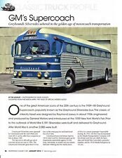 1948 GM GREYHOUND SILVERSHADES BUS  ~  GREAT 3-PAGE ARTICLE / AD