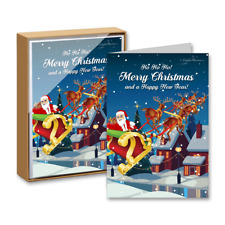 15 Greeting Cards and 15 Envelopes 'Ho Ho Ho Merry Christmas and a Happy New Yea