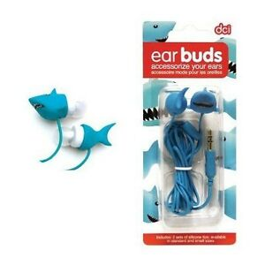 Shark Earbuds - for iPhone 5, MP3 Players, PDA, Computers, Gaming Systems