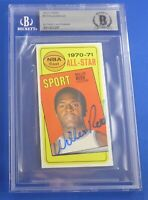 WILLIS REED HOF authenticated Beckett signed autograph auto 1970-71 Topps Knicks
