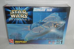 NEW Sealed Star Wars Episode 1 Gungan Sub AMT Snapfast ERTL Model Kit 1:48 Scale