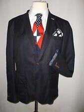 Blazer Para Hombre Algodón siguiente azul marino con un montón de detalles Size UK 46R Slim Fit