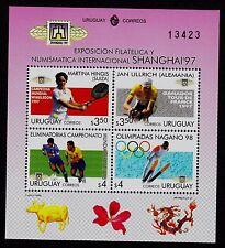 URUGUAY    SCOTT# 1695  SOUVENIR SHEET MNH  SHANGHAI '97 INT'L STAMP & COIN EXPO