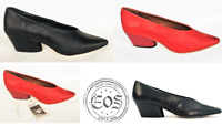 Eos Leather Cuban heel pointed toe court shoes  EOS Footwear Portugal Hard