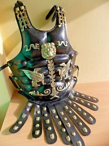 Brass & Leather Medieval Muscle Armor Collectible Wearable Roman Heavy Armor