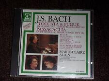 Marie-Claire Alain J.S. Bach Toccata & Fugue Passacaglia (CD, 1983, Erato)