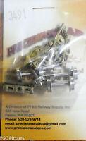 """Precision Scale HOn3 #3491 Trucks, Archbar w/26"""" Wheels, 4'0"""" WB, RGS/C&S, Brass"""