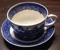 Homer Laughlin BLUE WILLOW Cup & Saucer