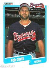 ⚾️ 1990 ~ Fleer #594 ~ Pete Smith ~ Atlanta Braves ~ NmMt=8