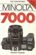 Minolta Dynax 7000  Hove User s Guide