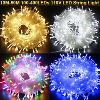 100-500 LED Christmas Tree Fairy String Party Copper Lights Outdoor Garden Decor