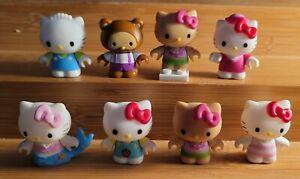 Hello Kitty Mega Blocks Figure lot of 8