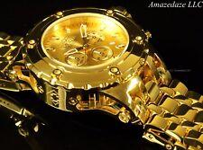 Invicta Men Sub Aqua Specialty Chronograph 18K GP High Polish Stainless St Watch