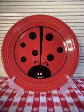 Homer Laughlin Fiesta ware Lady Bug Dinner Plate 10.5� Red Htf Rare