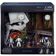 "Battle On Endor 3.75"" BIG SET (ROTJ: incl AT-ST, imperials, Han, Leia and Ewoks)"