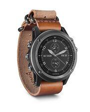 Garmin Fenix 3 Sapphire Multisport Training GPS Watch, Gray with Leather Strap