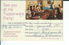 AY-161 - 1975 Tupperware Party Invitation Postcard, modern chrome Vintage
