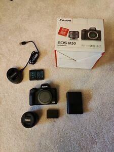 Canon EOS M50 Mirrorless DSLR + Kit Lens (Like New in box)