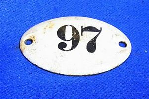 Vintage German Enamel & Iron Sign 97 #AR14