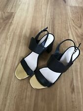 fe767980e191 BNWOT Jasper Conran Black   Gold Leather Sandals Heels - Size ...