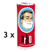 3 x Arko Shaving Stick Soap -  3 x 75 gr Sticks (225 gr)