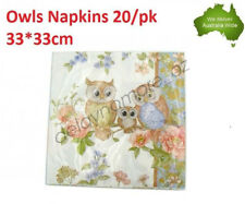 PK 20 Owl Napkins Luncheon paper Napkin 3ply Flower wedding Party Serviettes