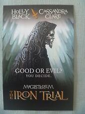 POSTCARD..MAGISTERIUM THE IRON TRIAL..HOLLY BLACK / CASSANDRA CLARE..PROMO CARD