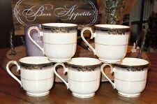 5pc Noritake SPELL BINDER Tea Cup Japan Fine Bone China 9733 MINT