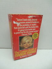 Curious Death Of Marilyn Monroe Book Robert Slatzer DiMaggio Kennedy