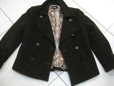 Ladies M&S PER UNA 18 16 corduroy green JACKET blazer military double breasted