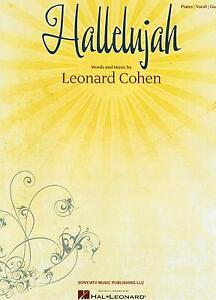 Klavier Noten : HALLELUJAH (Leonard Cohen) mittelschwer  PIANO - VOCAL - GUITAR