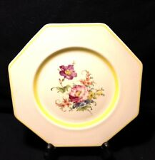 "VINTAGE REGALWARE RPC FRUIT PLATES MADE IN ENGLAND SET OF 4 - 8 3/4"" FLORAL"