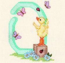 Popcorn Alphabet Counted Cross Stitch Kit PA34 Letter 0