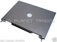 """NEW Dell 15.4"""" Latitude D820 D830 LCD Back Gray Cover Lid w/ Hinges YD874 GM977"""
